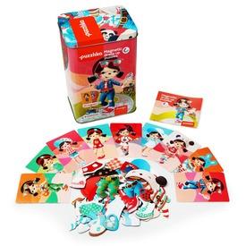 Babák fa 45 darabos mágneses puzzle