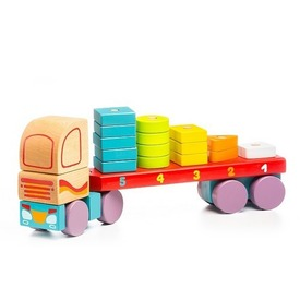 Fa kamion fakockákkal - 32 cm