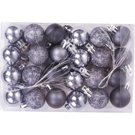 Karácsonyi gömb 3cm-es 24db 8szín ANY
