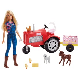 Barbie farmer baba traktorral - 29 cm