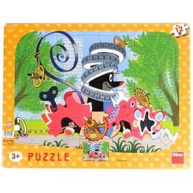 Kisvakond autót szerel 12 darabos puzzle