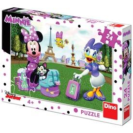 Puzzle 24 db - Minnie Párizsban