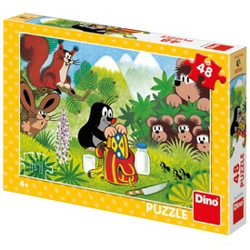 Puzzle 48 db - Kisvakond piknikje