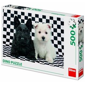 Puzzle 500 db - kutyák fekete-fehérben