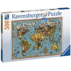 Puzzle 500 db - A világ pillangói