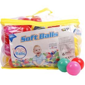 Műanyag labda 100 darabos készlet - 6 cm