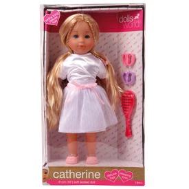Catherine baba hosszú hajjal - szőke, 41 cm