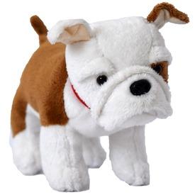 Bulldog kutya plüssfigura - 15 cm