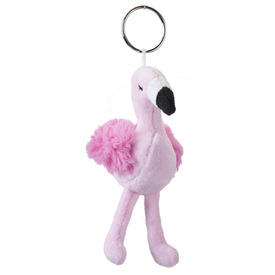 Flamingó plüss kulcstartó - 10 cm