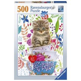 Puzzle 500 db - Cicák táskában
