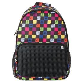 Pixie hátizsák - fekete, kockás