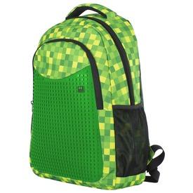 Pixie hátizsák tolltartóval - zöld-fekete