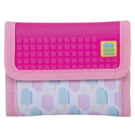 Pixie pénztárca - jégkrém mintás, rózsaszín