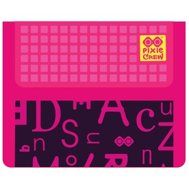 Pixie pénztárca - ABC mintás, rózsaszín