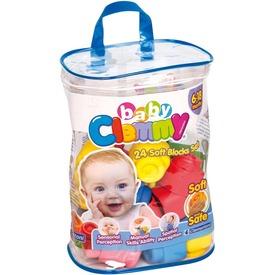 Clemmy Baby Puha építőkockák 24 db táskában 14889