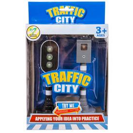 Közlekedési lámpa és traffipax