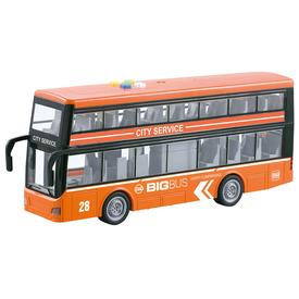 Kétszintes busz (nyitható ajtó, fény, hang)