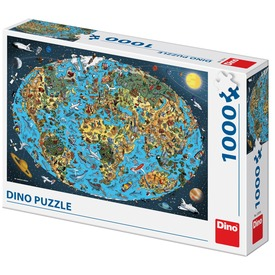 Puzzle 1000 db - Világtérkép