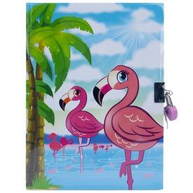 Flamingó emlékkönyv lakattal - A5
