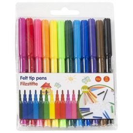 Vékony színes filctoll 12 darabos készlet