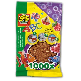 Vasalható gyöngy 1000 darabos - barna