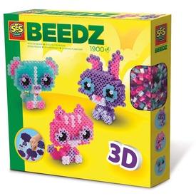 Állatok 3D vasalható gyöngy készlet