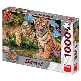 Puzzle 1000 pcs, titkos - Tigriskölykök