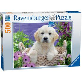 Puzzle 500 db - Kedves golden retriver