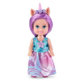 Sparkle girlz - Unikornis hercegnő baba 10cm