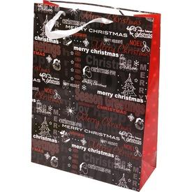 Karácsonyi feliratos ajándékzacskó - 31 x 42 cm