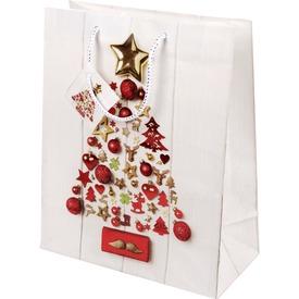 Karácsonyi díszek ajándékzacskó - 26 x 32 cm
