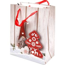 Télapó és fenyőfa ajándékzacskó - 18 x 23 cm