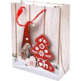 Télapó és fenyőfa ajándékzacskó - 26 x 32 cm
