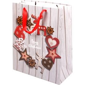 Koszorú mintás ajándékzacskó - 26 x 32 cm