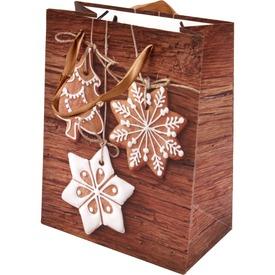 Mézeskalács és fenyőfa ajándékzacskó - 18 x 23 cm