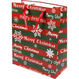 Merry Christmas ajándékzacskó - 26 x 32 cm