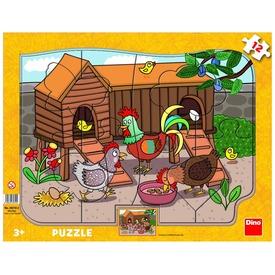 Baromfiudvar 12 darabos puzzle