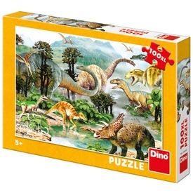 Puzzle 100 db XL Dinoszauruszok