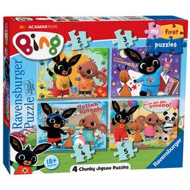 Puzzle 2 /3 /4 /5 db - Bing nyuszi első kirakóm