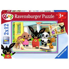 Puzzle 2x12 db - Bing mókázik