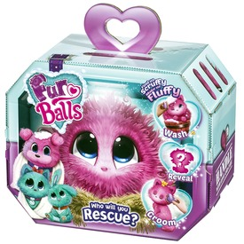 Fur Balls rózsaszín meglepetés plüssfigura