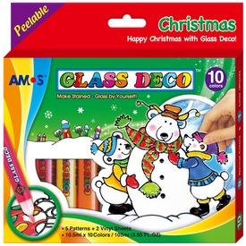 Üvegmatrica karácsonyi dekor készlet