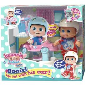 Bouncin Babies Baniel baba autóval - 17 cm
