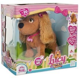Lucy éneklő-táncoló kutya plüssfigura - 23 cm