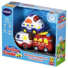 Toot-Toot mentő rendőr tűzoltó autó készlet