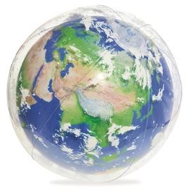 Földgömb világító strandlabda - 61 cm