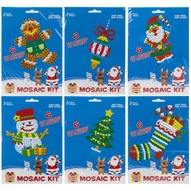 Karácsonyi mozaikkép készítő készlet - többféle