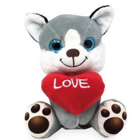 Ülő kutya szívvel 14cm / LB837571