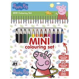 Kifestő 12 db színes ceruzával - Peppa Malac