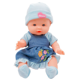 Játékbaba csíkos pizsamában - 30 cm, többféle